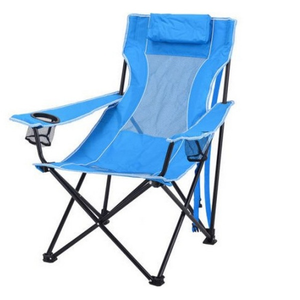 Peachy Ozark Trail Oversized Mesh Lounge Camping Chair With Cup Holders Theyellowbook Wood Chair Design Ideas Theyellowbookinfo