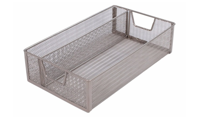 2 Compartment Divided Mesh Storage Bin