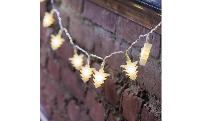 Christmas Tree Shaped Led Battery String Lights 4 5 Ft