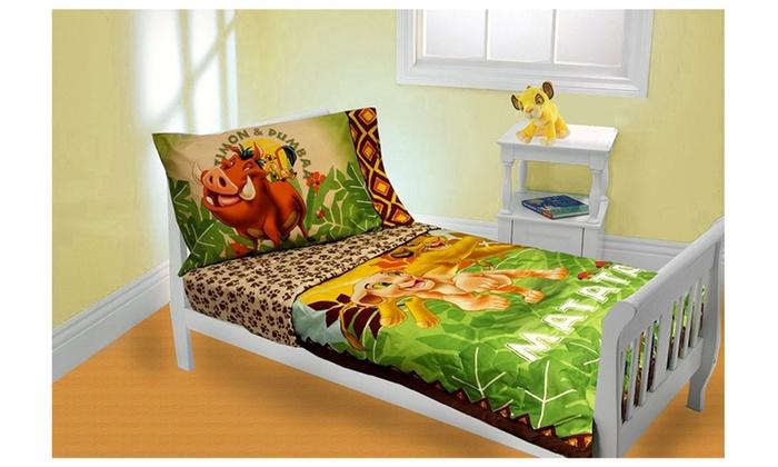 Disney Lion King 4 Piece Toddler Bedding Set Groupon