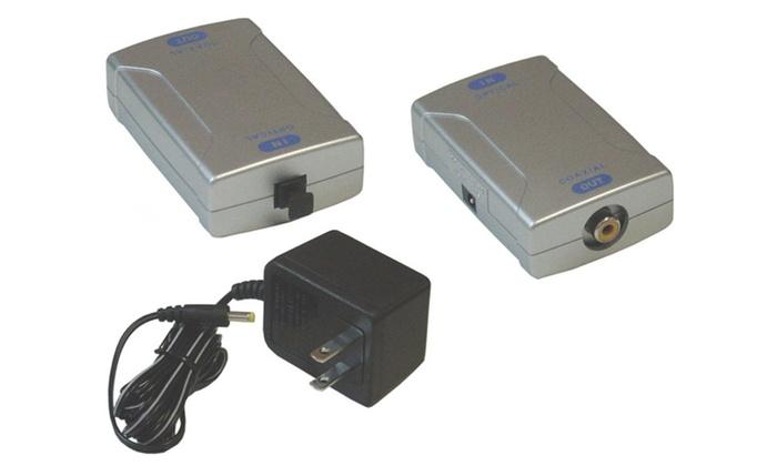 Digital Fiber Optical (Toslink) To Digital Coaxial (S/PDIF) Converter