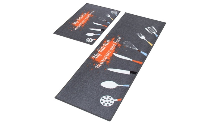 Up To 34% Off on 2 Pc Non-Slip Kitchen Mat Rub... | Groupon ...