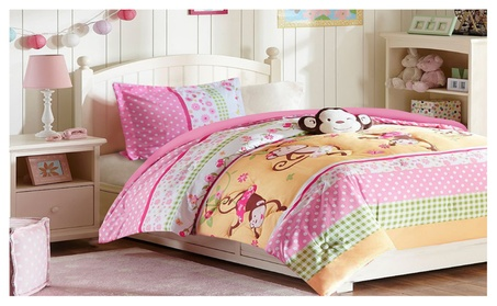 All American Collection New Childrens Pink Monkey Bedding Set 2eedb56e-579f-4c7d-9fa1-40fa623f1df2