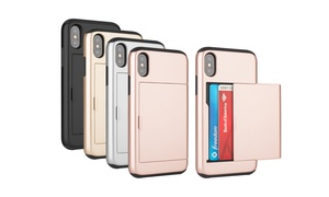 Card-Slot Wallet-Style Protection Case for iPhone 7/8, 7/8 Plus, and X