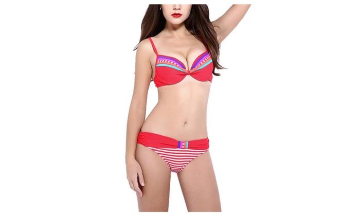 Women's Blouse Outdoor European Style Low-Rise Bikini Sets