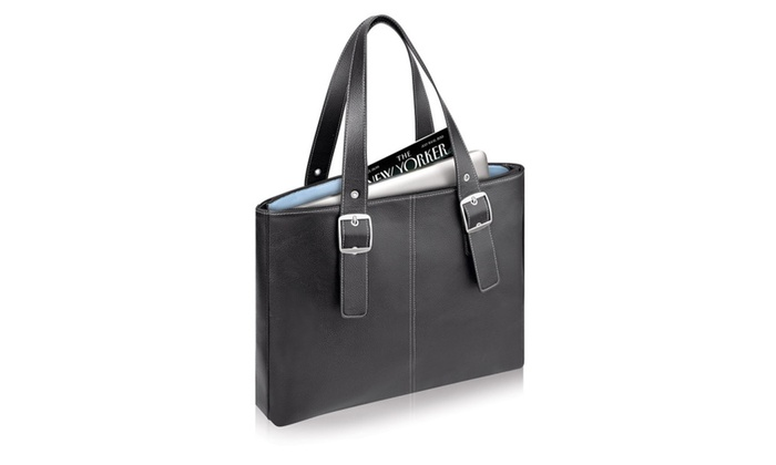 SOLO PLAZA Classic Laptop Tote safely fits the 17 inch MacBook