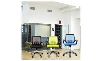 Image Placeholder For Modern Mid Back Mesh Computer Office Desk Armrest Chair