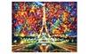 """Paris Of My Dreams — PALETTE KNIFE Modern Landscape Architecture Oil Painting On Canvas By Leonid Afremov - Size: 40"""" x 30"""" (100 cm x 75 cm)"""