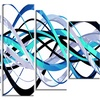 Pink Expression Helix -  Abstract  Art - 60x32 - 5 Panels