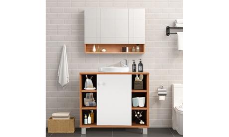 Under Sink Cabinet Bathroom Spacesaver Storage Cabinet 6 Cube Vanity Organizer