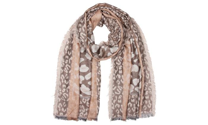 Sakkas Leopard Pashmina Scarf / Stole / Wrap / Shawl