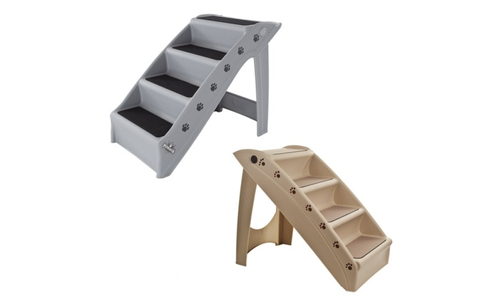 Indoor And Outdoor Foldable Plastic 4 Step Stairs For Pets ...
