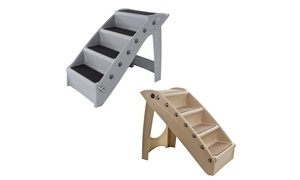 Durable Indoor or Outdoor Folding Plastic 4-Step Pet Stairs