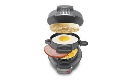 Hamilton Beach 25475 Breakfast Sandwich Maker, Silver/black 802e4b20-2afc-4f8d-bf34-90bf53d62c91