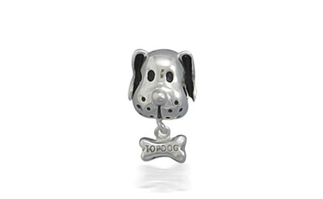 Bling Jewelry Sterling Silver Dog and Bone Animal Dangle Bead c21eb748-dff1-495f-8d86-9fbaafe7bf6c