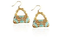 Retro Purse Charm Earrings in Gold (Groupon Goods) photo