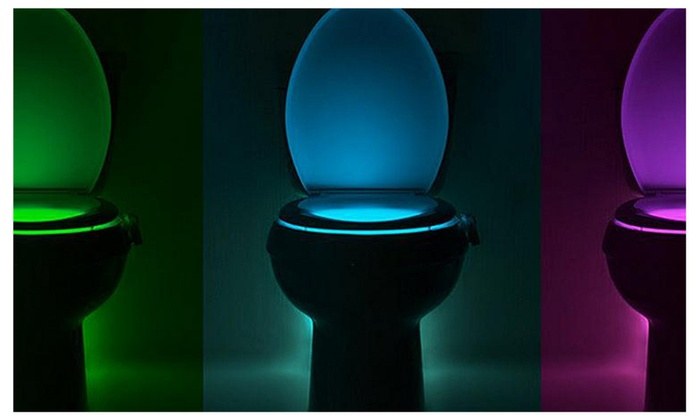 Bathroom Night Light toilet night light 8 colors changing bathroom led toilet bowl