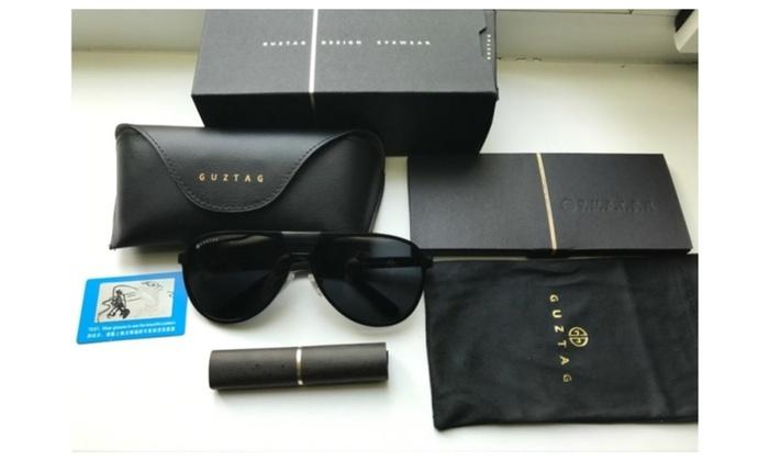 f287ec94a8 GUZTAG Unisex Classic Brand Men Women Aluminum Sunglasses HD Polarized