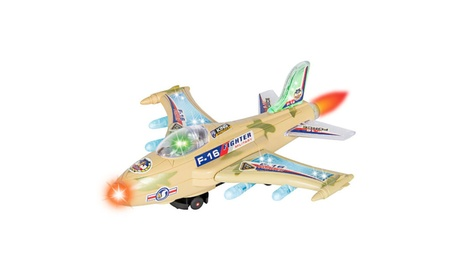 F-16 Fighter Jet Airplane W Flashing Lights, Sound, Bump and Go Action 326b435a-2071-473e-abee-7c64921c3c2b