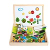 Toys Educational Magnetic Puzzle Farm Jungle Animal Kids Blackboard