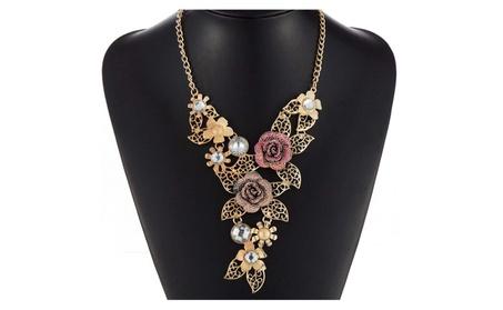 Vintage Rhinestone Rose Gold Maxi Choker Women's Necklace 2d8328b0-b508-40c2-a6e6-cdb6a6be4066