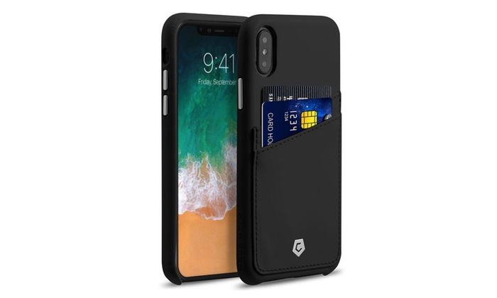 f225a50c6 Cobble Pro Premium Credit Card Slot Holder Leather Snap-on Case for iPhone X /XS