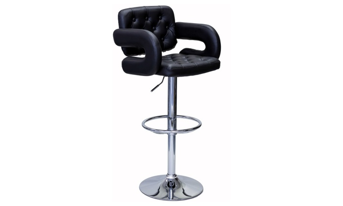Astounding Viscologic Ritzy 24 To 33 Inch Height Adjustable Tufted Bar Ibusinesslaw Wood Chair Design Ideas Ibusinesslaworg
