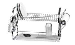2-Tier Chrome-Plated Dish Rack