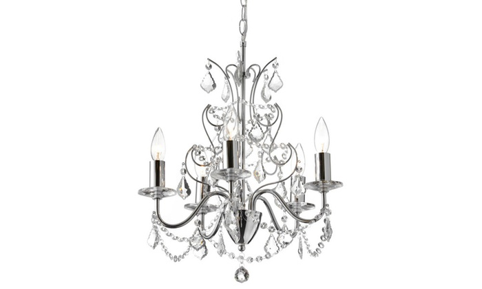 6-Light Polished Chrome Chandelier
