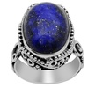 16 Carat lapis Lazuli Oval 925 Sterling Silver Ring by Orchid Jewelry