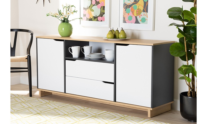 Tremendous Reed Multicolor 2 Door Wood Dining Room Sideboard Groupon Caraccident5 Cool Chair Designs And Ideas Caraccident5Info