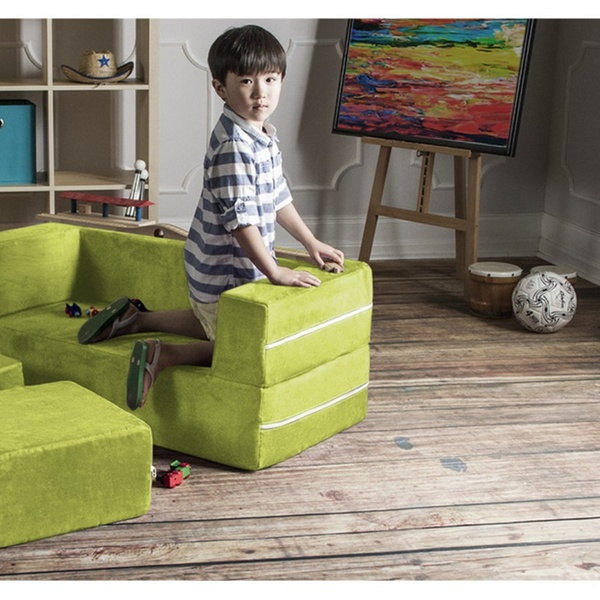 Excellent Jaxx Zipline Kids Modular Loveseat Ottomans Fold Out Lounger Andrewgaddart Wooden Chair Designs For Living Room Andrewgaddartcom