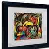 Franz Marc 'Three Horses 1912' Matted Black Framed Art