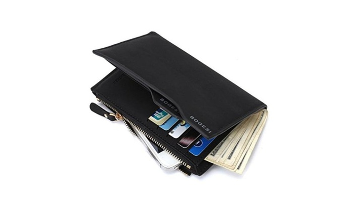 Mens Fashion Flod Short Money Clips PU Purse Wallet