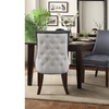 Faux Leather Button Tufted Dining Chair Set (2-Piece)