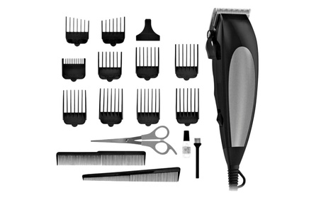 Elegant 18 Piece Home Pro Hair Cutting Trimmer Clipper Kit bc5cc2f2-87ed-4875-b3b8-20af8bb98c17