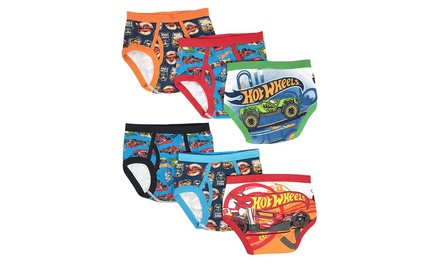 Hot Wheels Boys Briefs Underwear (6-Pack) (Available in 2T-8)