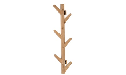 Inverlee 6 Hooks Bamboo Tree Branch Coat & Hat Stand