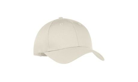 Port & Co CP80 Six Panel Twill Cap Oyster - One Size