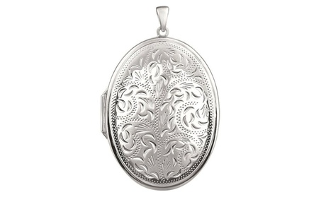 Sterling Silver Oval Locket 20478b51-8c9e-4306-8395-bcb40d9e8064