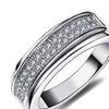 Sparkling Cubic Zirconia Stackable Wedding Women's Ring