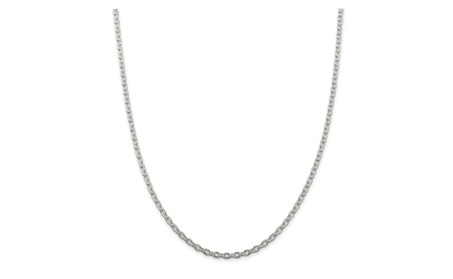 Sterling Silver 24in 3.5mm Cable Necklace Chain 85e8f8e8-323d-4fc6-a521-38bfeebcb383