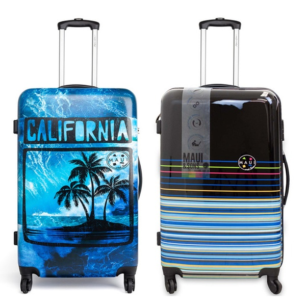 3b28fd0ab27a Maui and Sons Expandable Hardside Spinner Luggage with a TSA lock