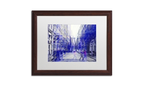 Philippe Hugonnard 'Urban Vibrations Soho' Wood Framed Art 5f65ca60-30cc-46dd-b1a7-51e120a073c1