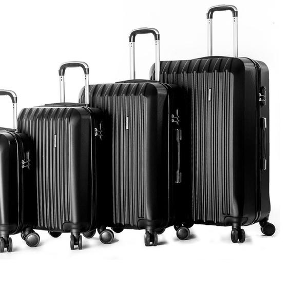 4f2b833c07ec 4 Piece ABS Luggage Set Light Travel Case Hardshell Suitcase 16