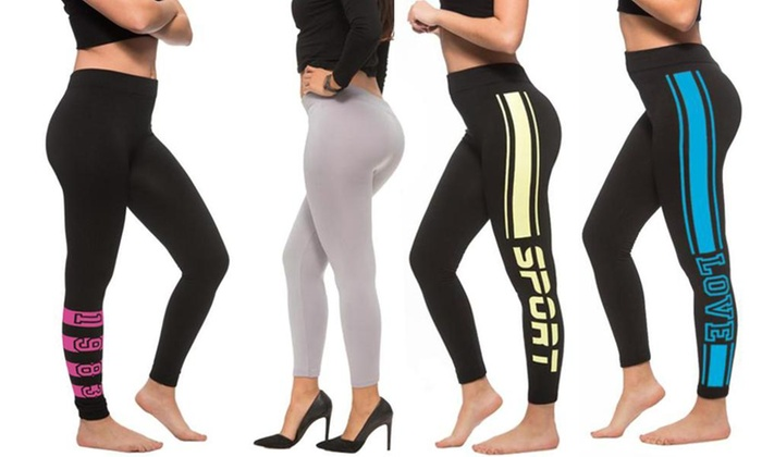 8208ea8bea Up To 83% Off on Coco Limon Women's 4 Pack Lon... | Groupon Goods