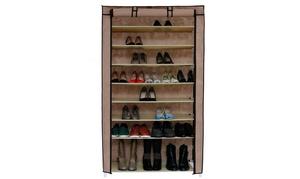 10 Tiers Shoe Rack with Dustproof Cover Closet Shoe Storage Cabinet Organizer