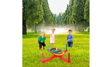 Hoop Ring Toss Plastic Ring Toss Quoits Garden Game Pool Toy Outdoor Fun Set NEW