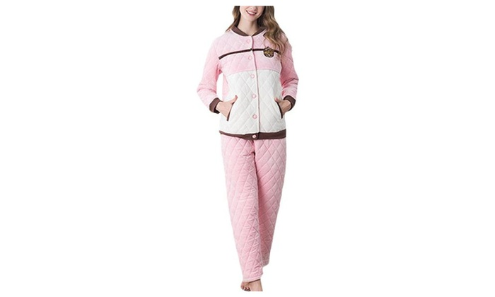 Women's Casual Tassels Casual ButtonsUp Pajamas Set