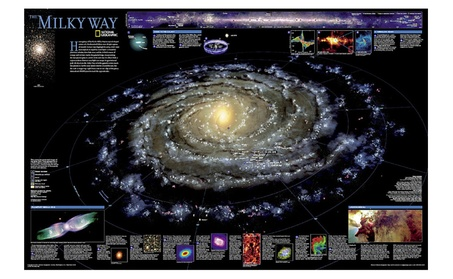 National Geographic RE00620140 Map Of The Milky Way - Laminated 3a74cf94-63df-49ab-8c9c-9b6c4310e49f
